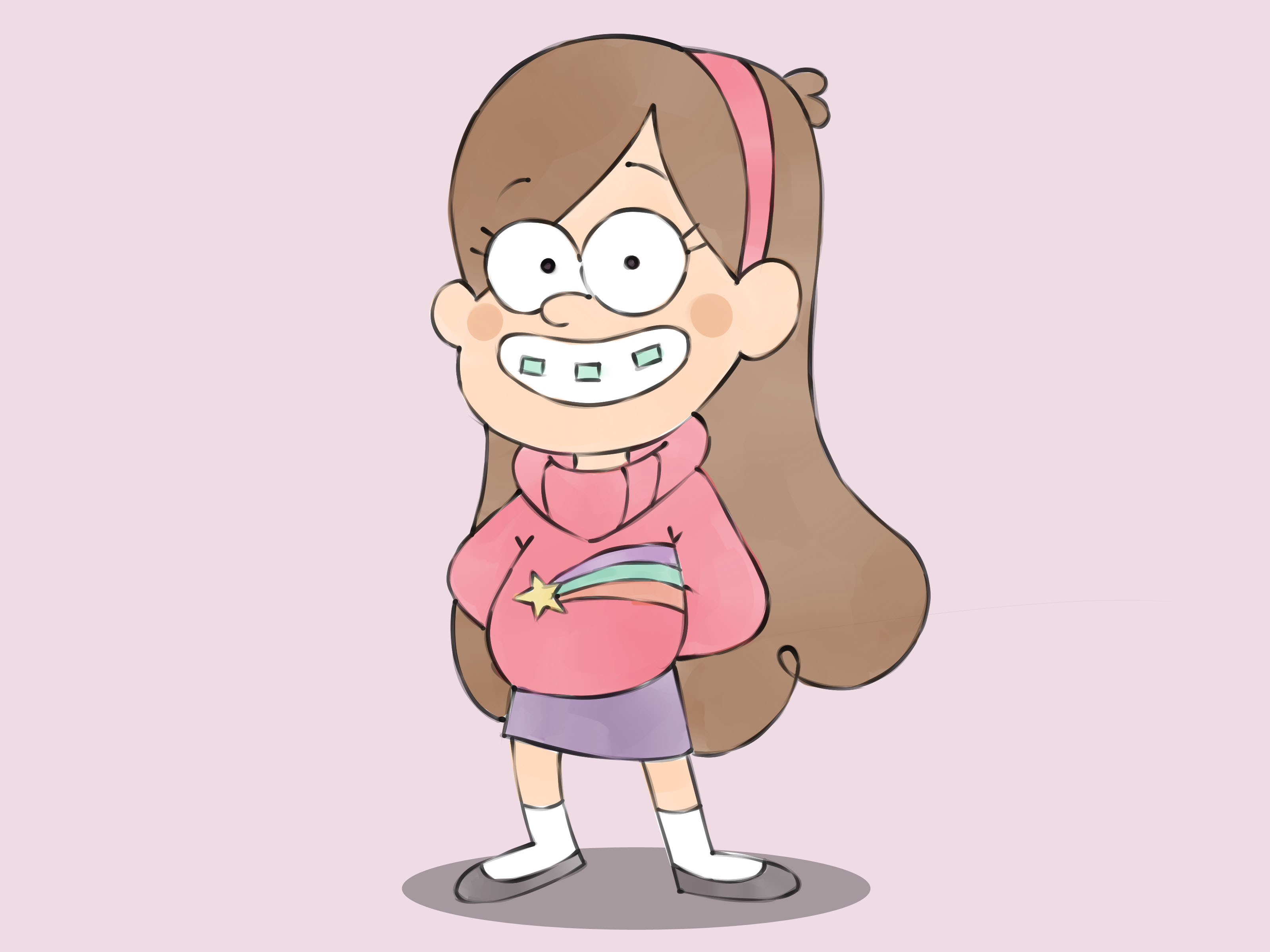 Gravity Falls Waddles Wallpaper How To Draw Mabel Pines From Gravity Falls 7 Steps