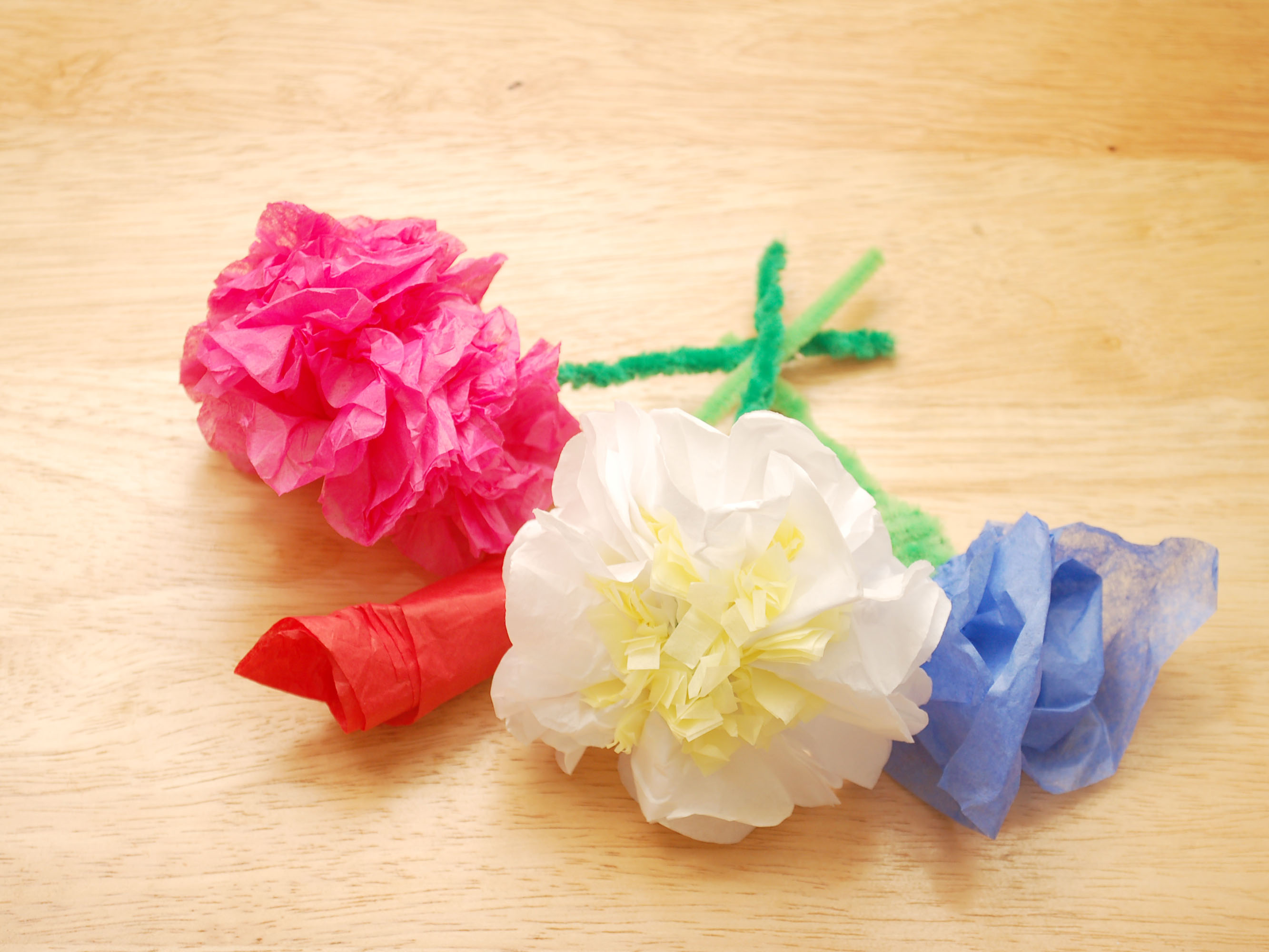 Making Flowers With Tissue Paper And Pipe Cleaner Acpfoto