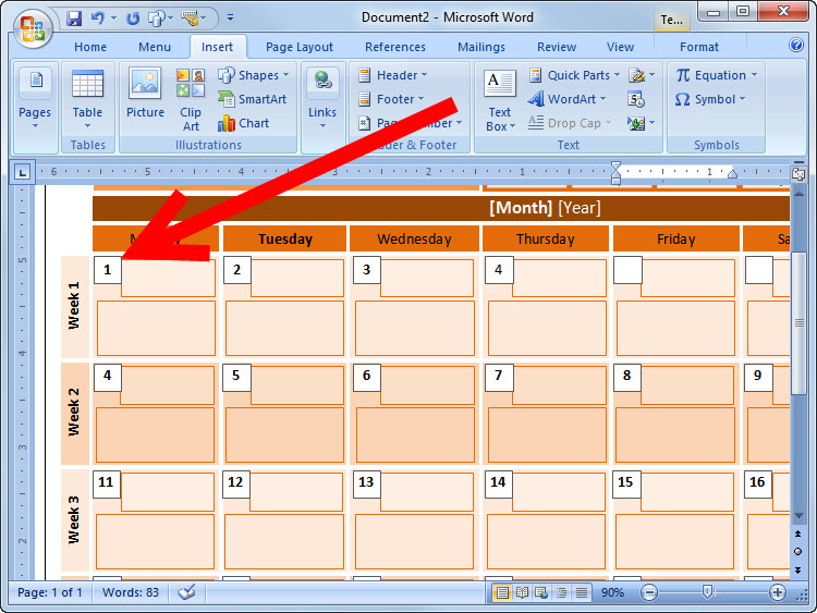 How to Create an Event Calendar in Microsoft Word 2008 7 Steps