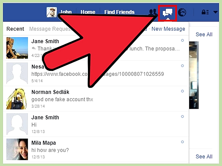 How to delete facebook messages fast howt open your message inbox ccuart Gallery