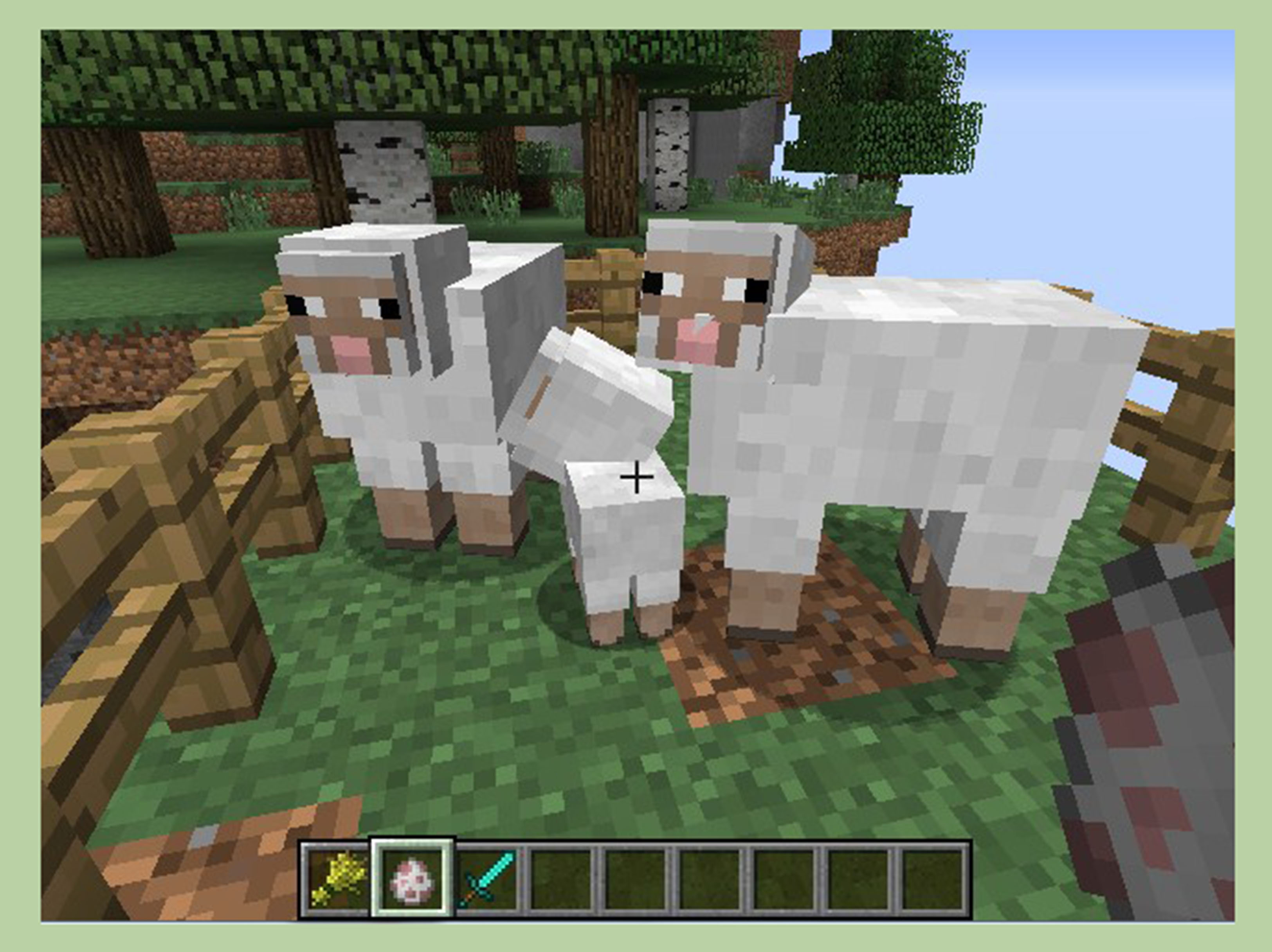 How to Get a Baby Sheep on Minecraft: 8 Steps (with Pictures)