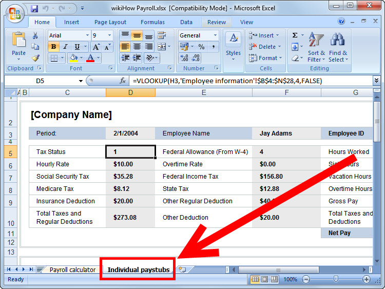 How to Prepare Payroll in Excel 5 Steps (with Pictures) - wikiHow - payroll templates free
