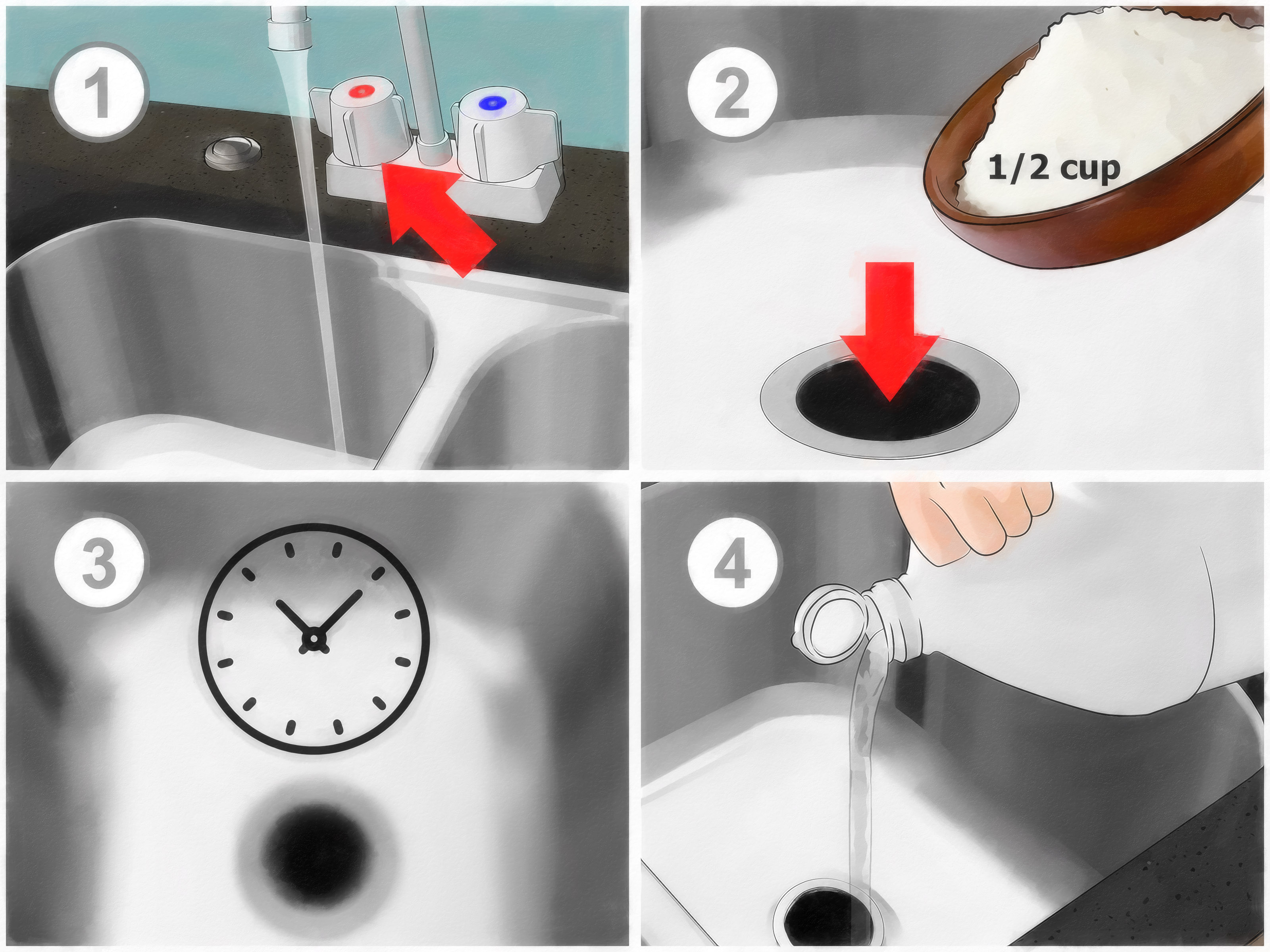 Unclog a Sink clogged kitchen sink Unclog a Garbage Disposal