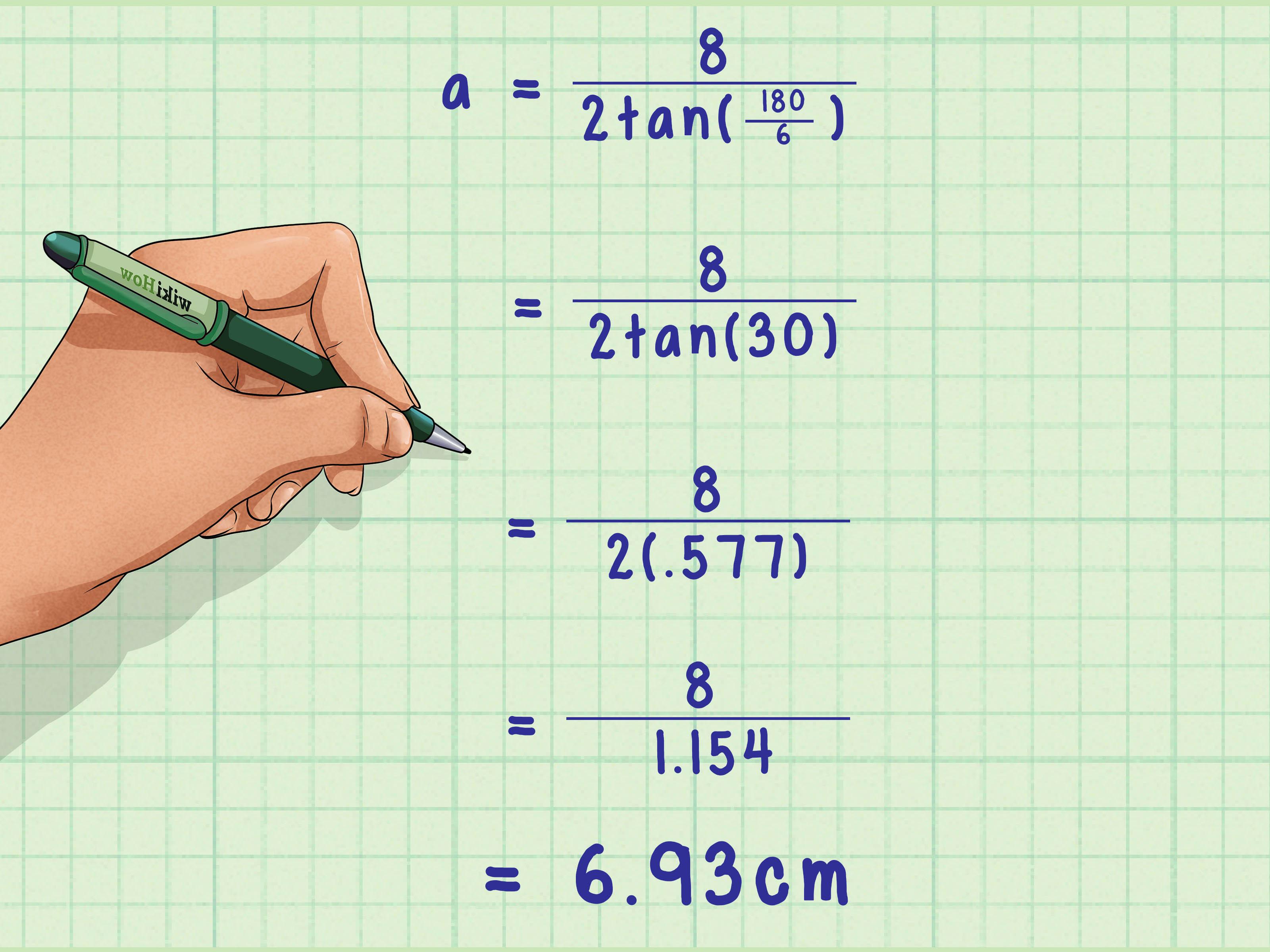 Calculate The Apothem Of A Hexagon