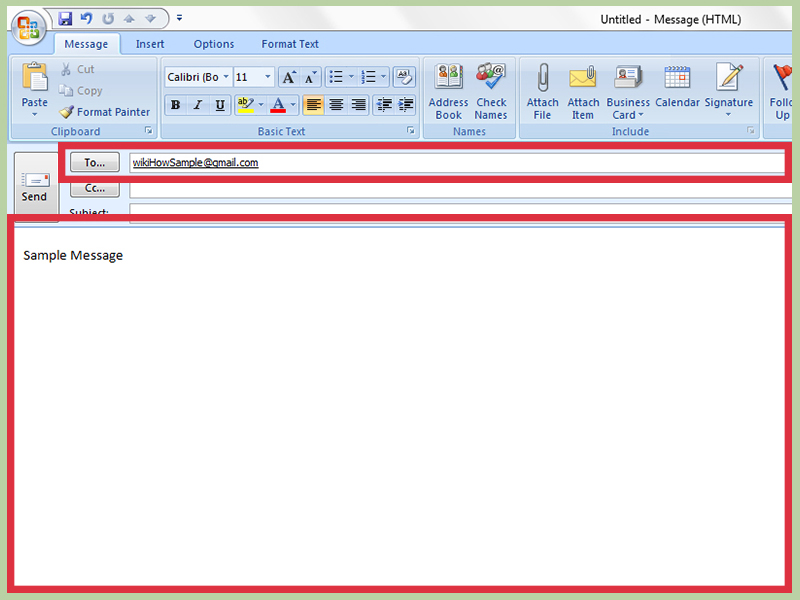 message template outlook