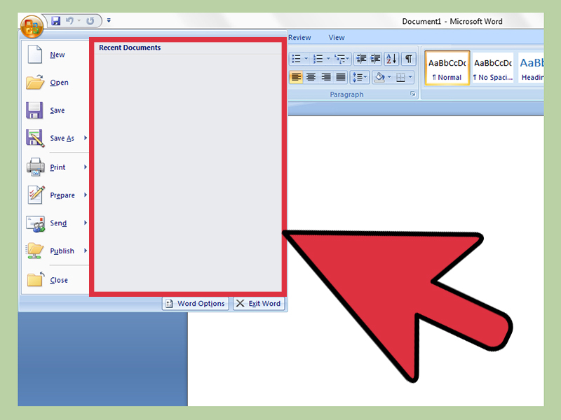 How to Disable or Delete Recent Document List in Microsoft Word or Excel - mickrosoft word