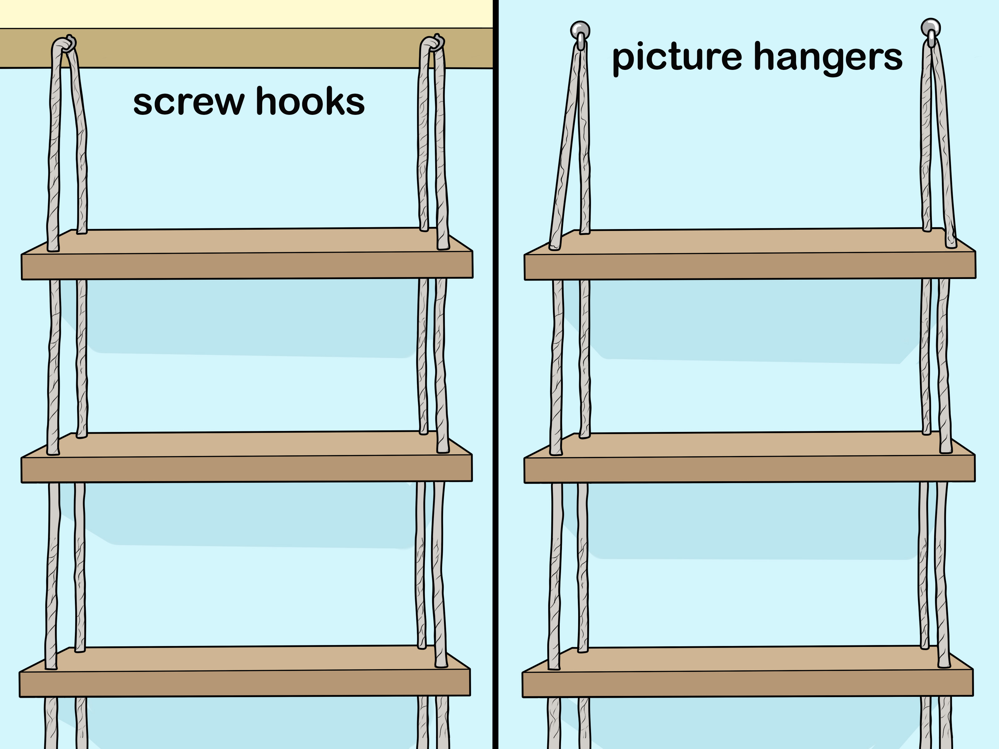How To Make A Hanging Rope Shelf 10 Steps With Pictures