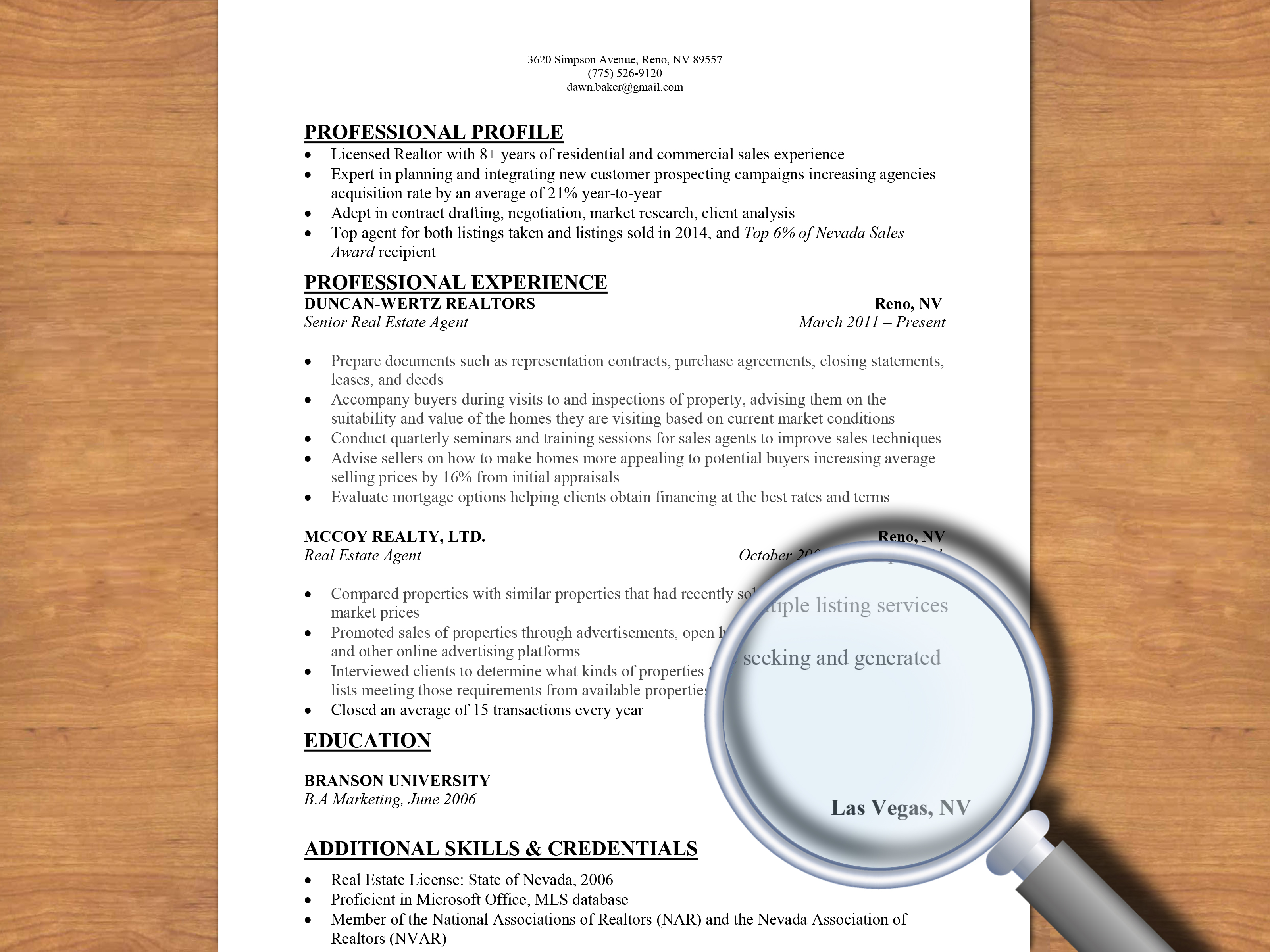 what do you need to put on a resumes
