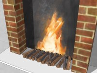 3 Ways to Make a Fake Fireplace - wikiHow