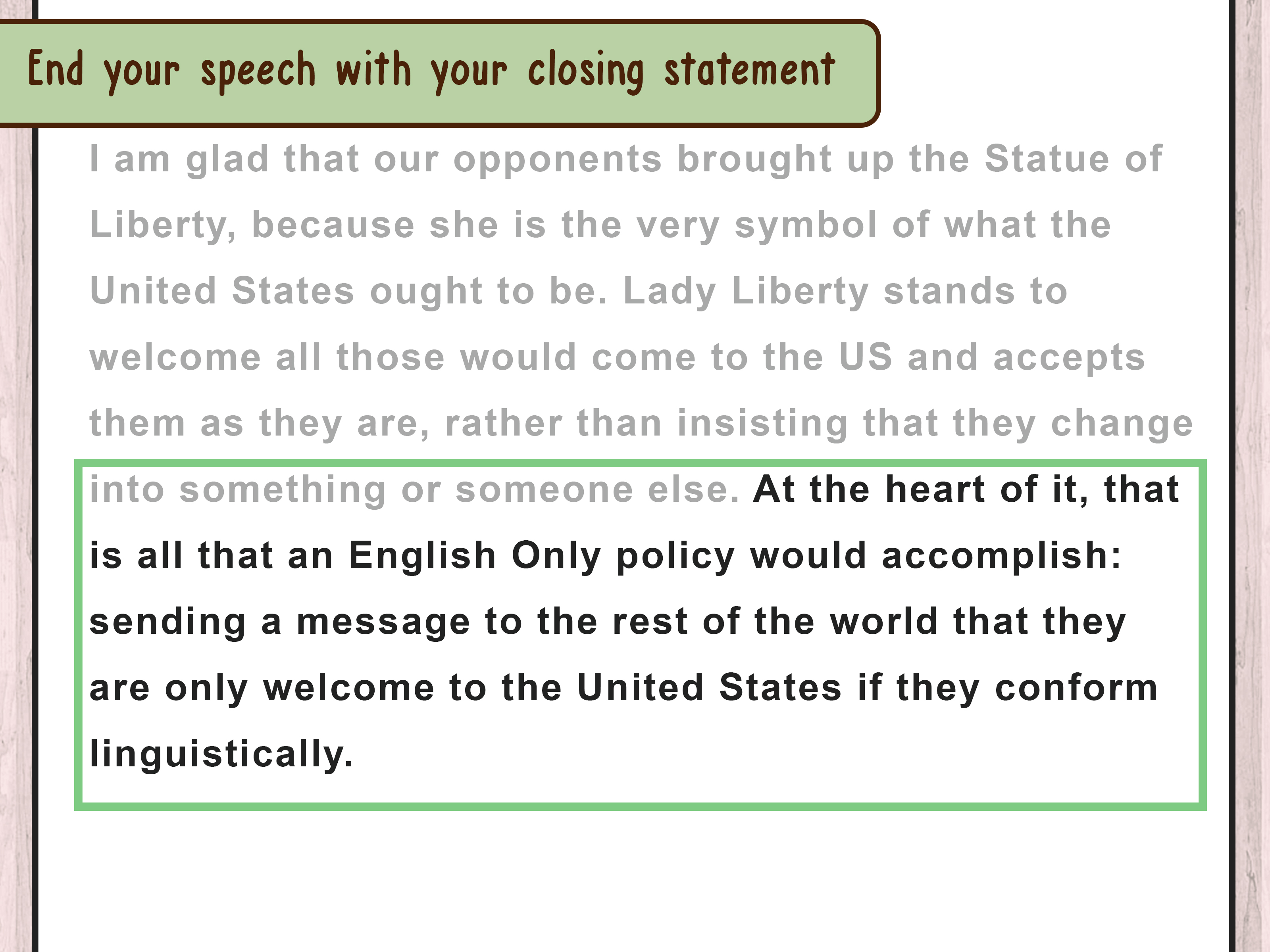 3 Ways To Write A Speech If You39re Third Speaker Wikihow