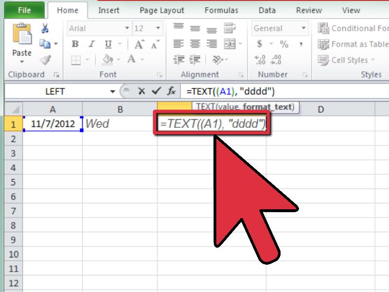 How to Calculate the Day of the Week in Excel 3 Steps - creating formulas in excel
