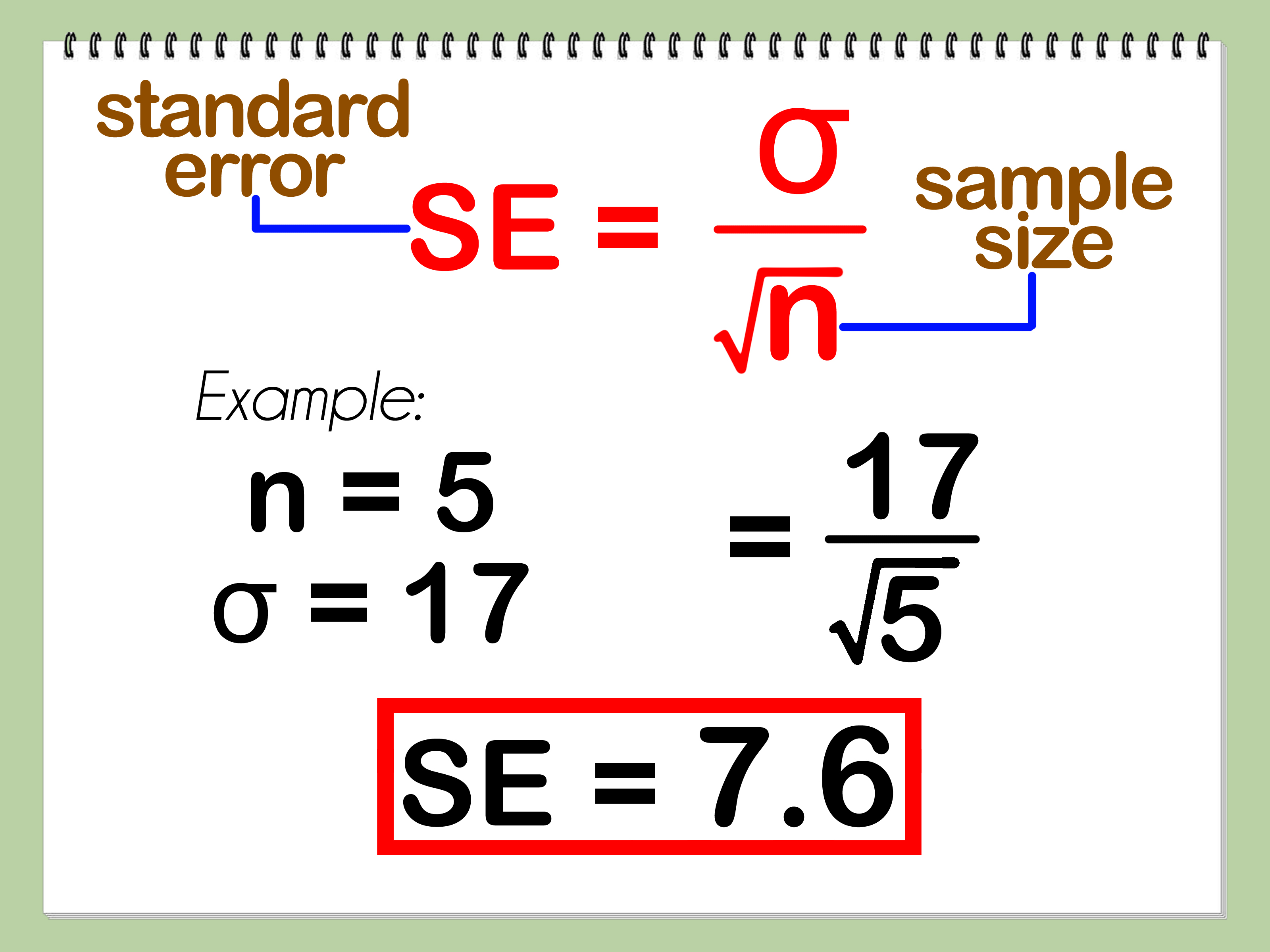 How To Calculate Mean Standard Deviation And Standard Error With Calculator
