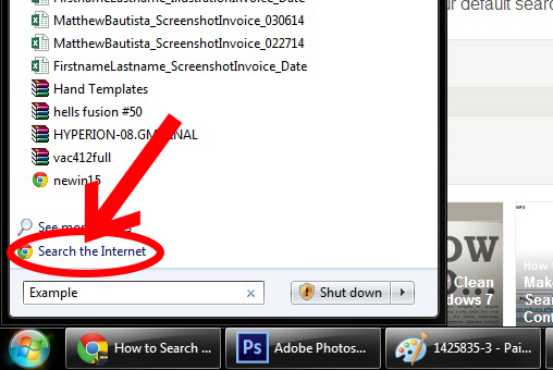 How to Search the Internet from the Start Menu on Windows 7