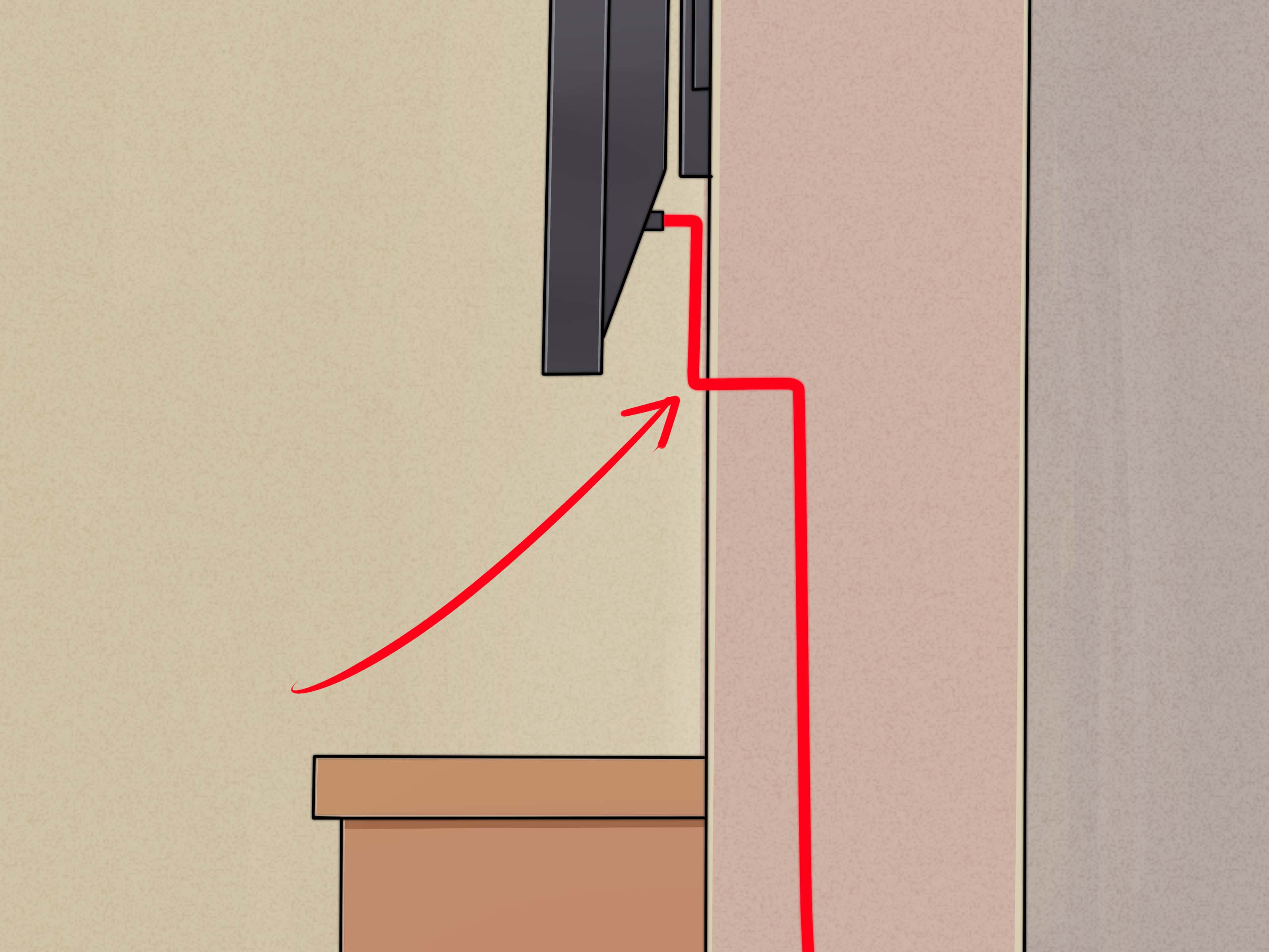 How To Install A Flat Panel Tv On A Wall With No Wires Showing