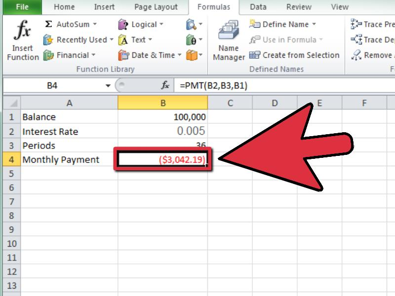 How to Calculate a Monthly Payment in Excel 12 Steps - monthly budget estimator