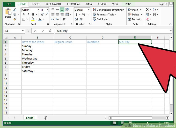 How to Make a Timesheet (with Pictures) - wikiHow