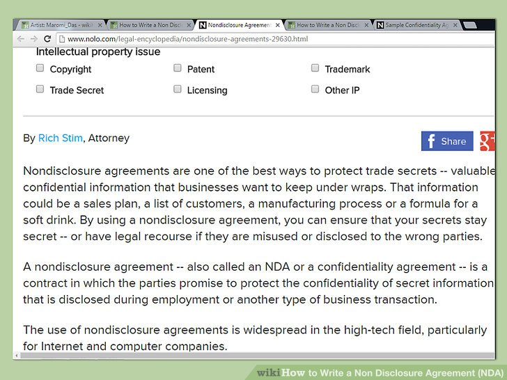 How To? - How to Write a Non Disclosure Agreement (NDA) - business non disclosure agreement