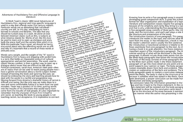 5 Easy Ways To Start A College Essay With Pictures