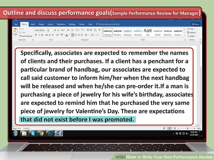 How to Write Your Own Performance Review (with Sample Reviews) - goals employee performance evaluation
