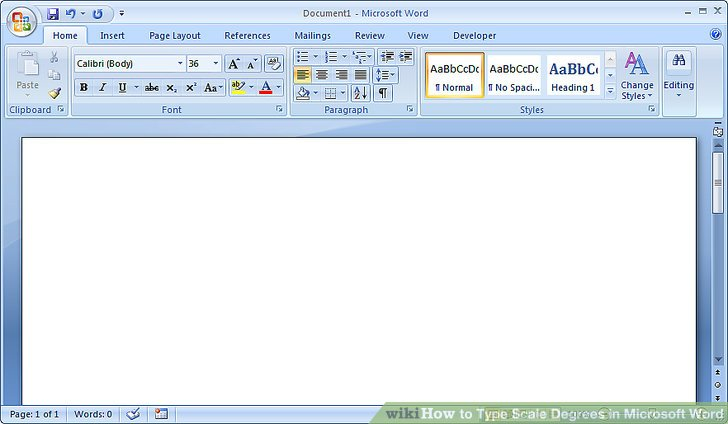 How to Type Scale Degrees in Microsoft Word 7 Steps - degrees in microsoft word