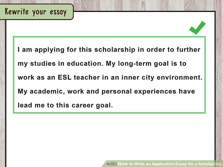how to write an essay for scholarships