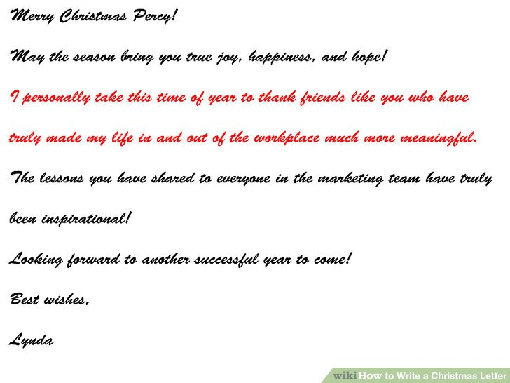 How to Write a Christmas Letter 15 Steps (with Pictures)