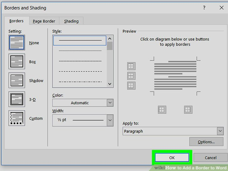 How to Add a Border to Word (with Pictures) - wikiHow - american flag background for word document