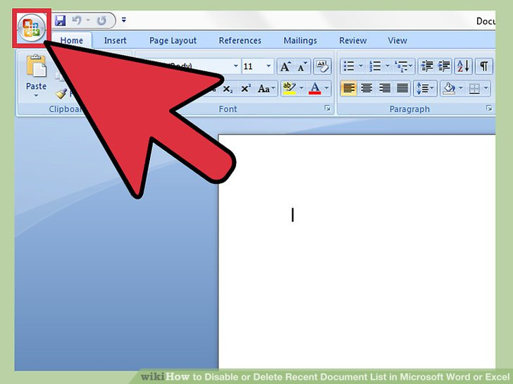 How to Disable or Delete Recent Document List in Microsoft Word or - microsoft word