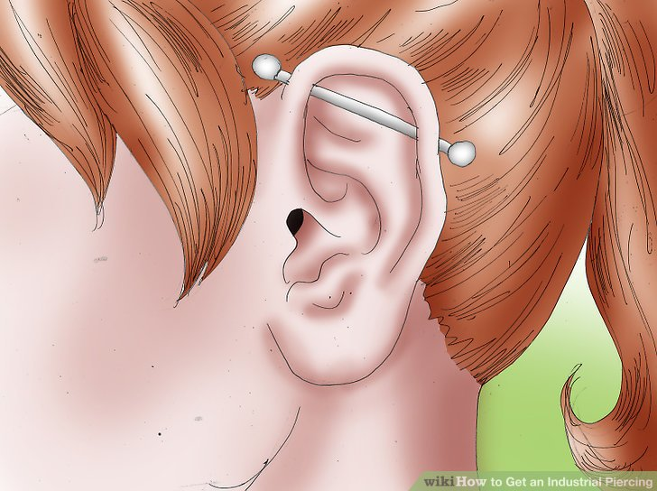 How to Get an Industrial Piercing (with Pictures) - wikiHow