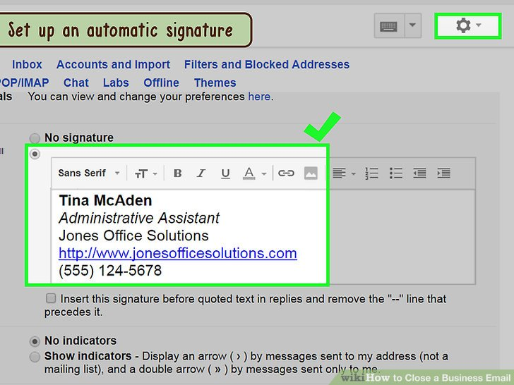 How to Close a Business Email 10 Steps (with Pictures) - wikiHow - business signature email