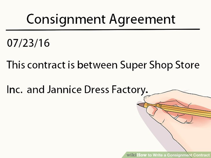 How to Write a Consignment Contract (with Pictures) - wikiHow - consignment form template