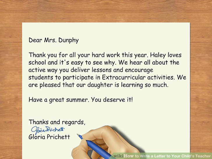 3 Ways to Write a Letter to Your Child\u0027s Teacher - wikiHow