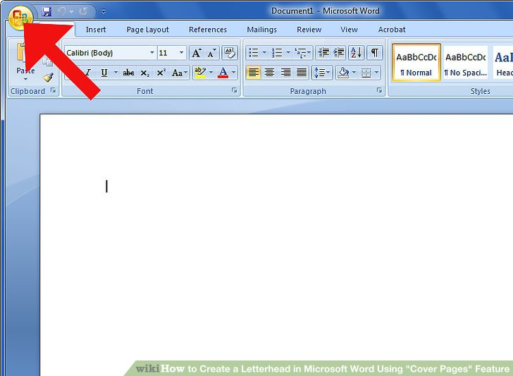 How to Create a Letterhead in Microsoft Word Using \