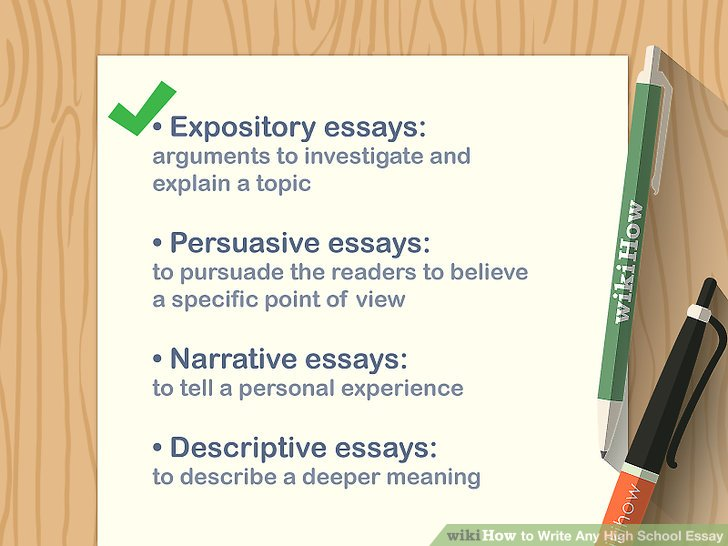 How to Write Any High School Essay (with Pictures) - wikiHow