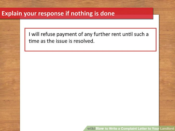 How to Write a Complaint Letter to Your Landlord 13 Steps - Letter To Landlord