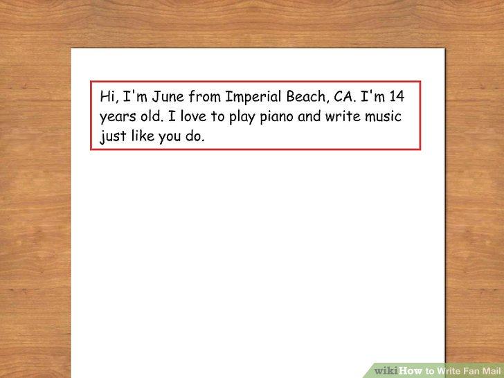 4 Ways to Write Fan Mail - wikiHow