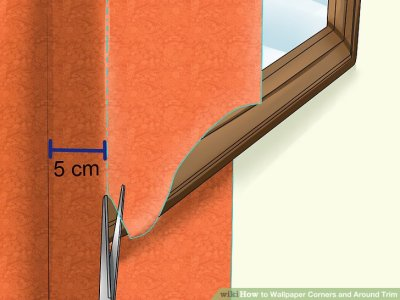 How to Wallpaper Corners and Around Trim: 11 Steps (with Pictures)