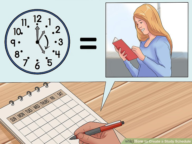 The Easiest Way to Create a Study Schedule - wikiHow - study timetable