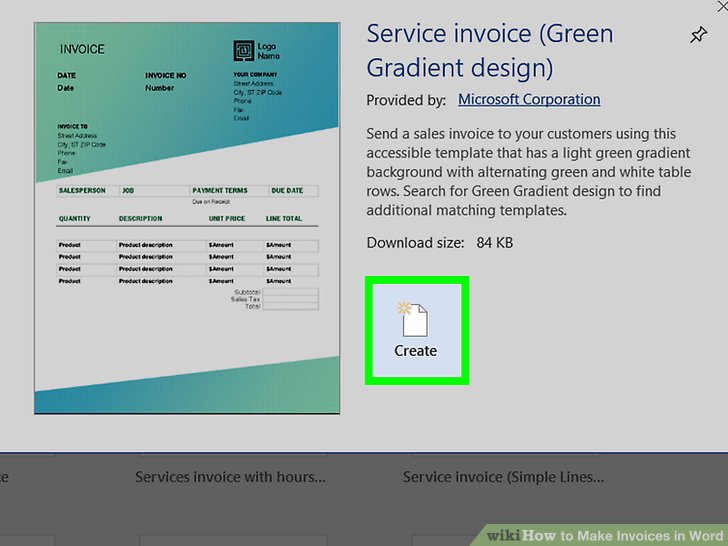 How to Make Invoices in Word (with Pictures) - wikiHow