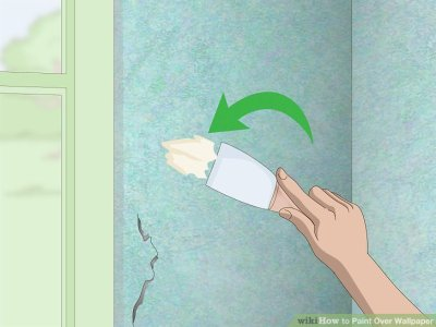 2 Easy Ways to Paint Over Wallpaper - wikiHow