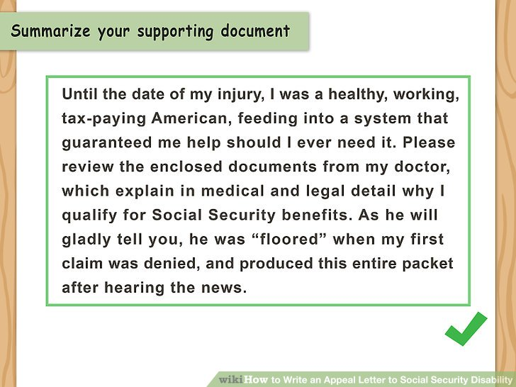 How to Write an Appeal Letter to Social Security Disability (with