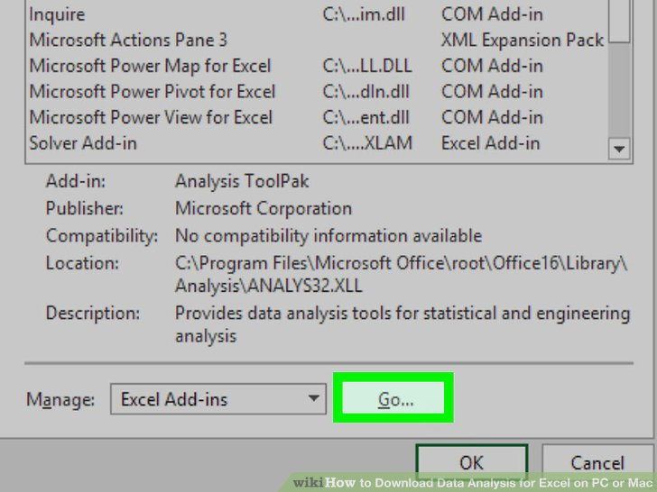 How to Download Data Analysis for Excel on PC or Mac 13 Steps