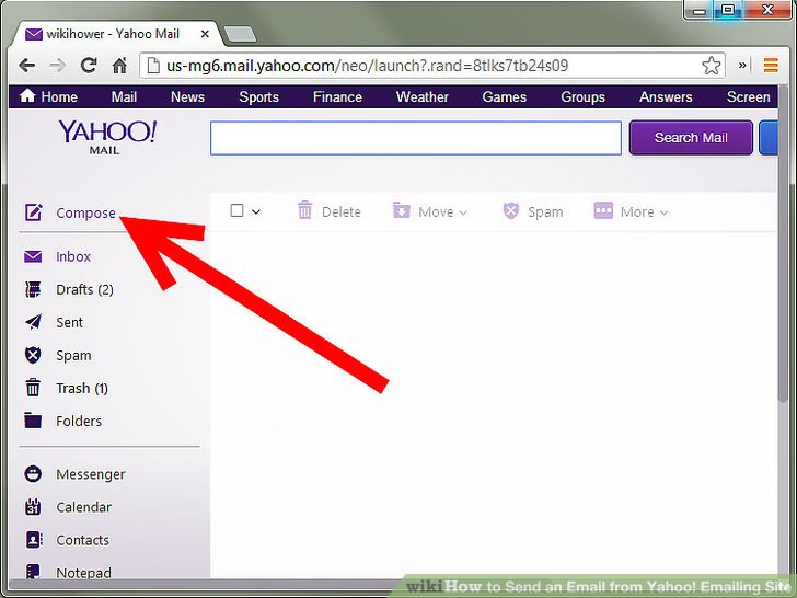 How to Send an Email from Yahoo! Emailing Site 6 Steps - emailing photo