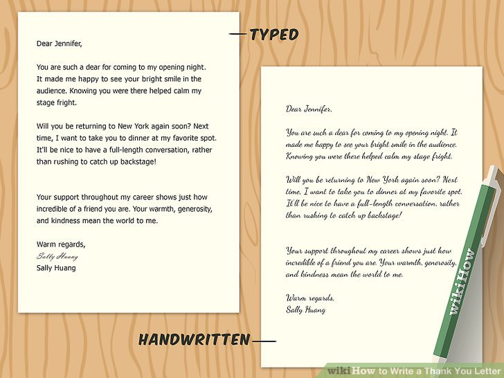 How to Write a Thank You Letter (with Sample Letters) - wikiHow