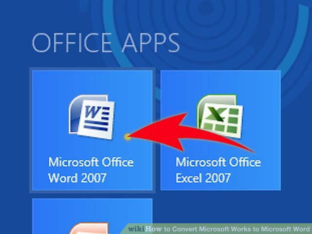 How to Convert Microsoft Works to Microsoft Word 7 Steps - mickrosoft word