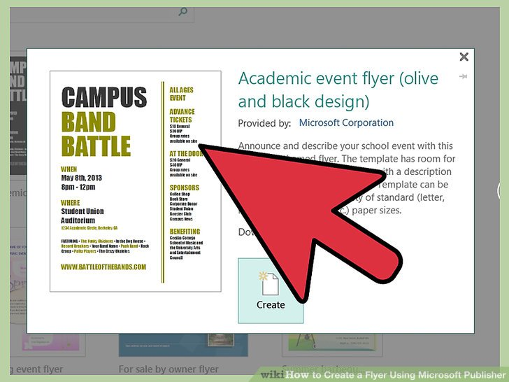 How to Create a Flyer Using Microsoft Publisher 11 Steps