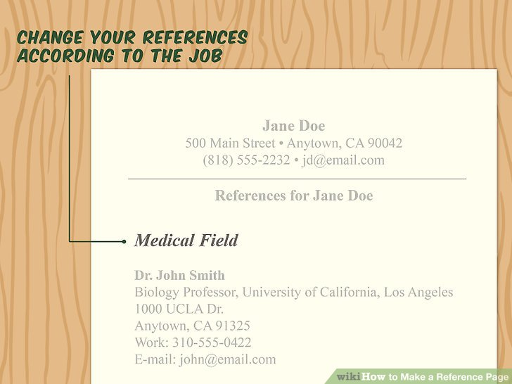 How to Make a Reference Page 11 Steps (with Pictures) - wikiHow