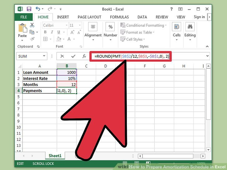 How to Prepare Amortization Schedule in Excel 10 Steps - Sample Schedules - Amortization Schedule Excel
