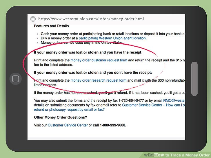 How to Trace a Money Order 12 Steps (with Pictures) - wikiHow - money order form