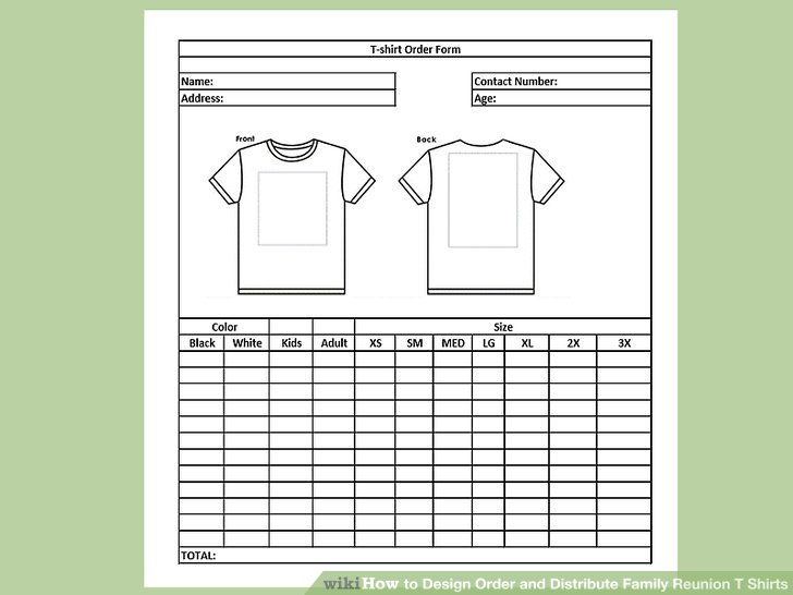 How to Design Order and Distribute Family Reunion T Shirts
